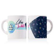 خرید اینترنتی ماگ طرح مهرماه Libra مناسب برای هدیه متولدین مهر