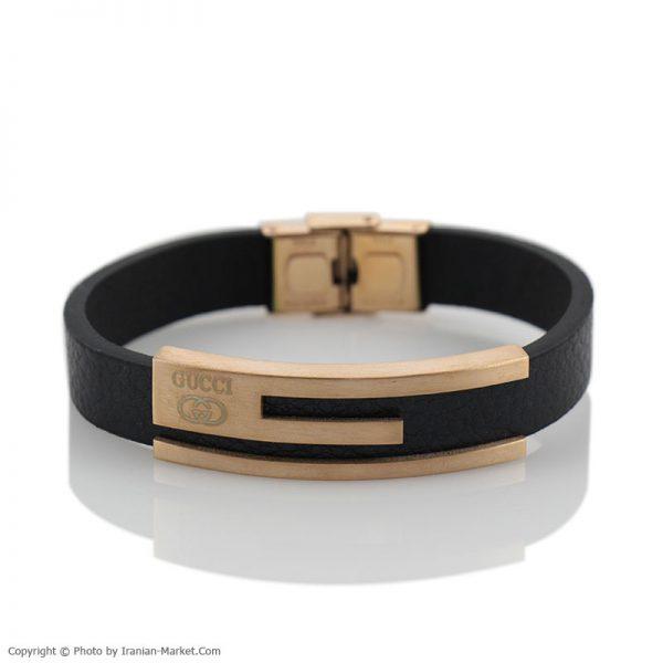 دستبند چرم طبیعی طرح گوچی GUCCI