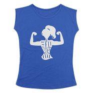 تیشرت ورزشی آستین حلقه ای زنانه طرح Get Fit